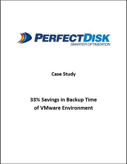 33% Savings in Backup Time of VMware Environment